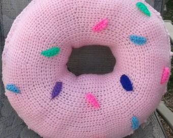 Crochet Donut Pillow/Plushy
