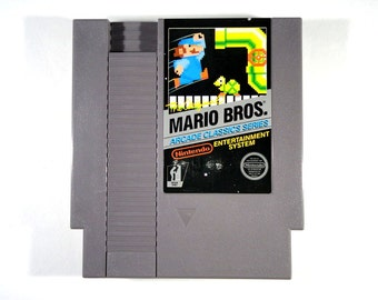 Vintage Video game classic 1986 Mario Bros GREAT Nintendo NES Rare and hard to find!