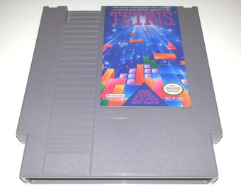 Vintage Tetris nes nintendo video game