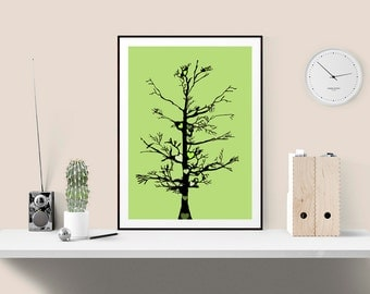 Art Print, Tree of Life Graphic Print, Present idea for best friend, Housewarming Gift, Nursery Print, Cute Dorm Decor, Wall Gallery Art
