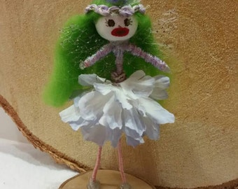 Freeky Flower Fairy lilac handcrafted gift