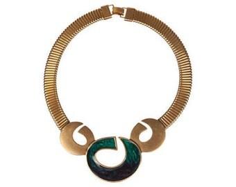 Mexican-Inspired Enamel Bib Necklace
