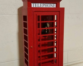 Key Holder XXL and mobile phone rack , organizer - London telephone booth