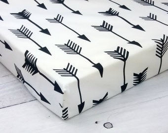 crib sheets, monochrome baby, fitted crib sheet, crib bedding, crib sheet, arrow nursery, baby crib sheets, mini crib sheet, baby boy