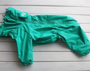 Dog Raincoat Plain Color - Full Body Suit - Dog Coat - Dog Clothing - Pet Clothes - Available to Any Breed