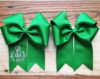 Monogrammed Show Bows