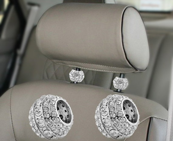crystal auto headrest collars interior car accessory. Black Bedroom Furniture Sets. Home Design Ideas