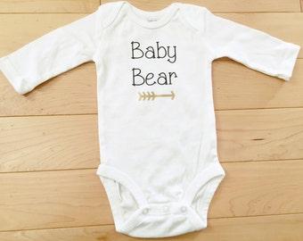 Baby Bear Bodysuit / Gender Neutral / Woodland / Forest