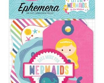 Echo Park | Let's Be Mermaids |  Ephemera Cardstock Die-Cuts | 33 pieces