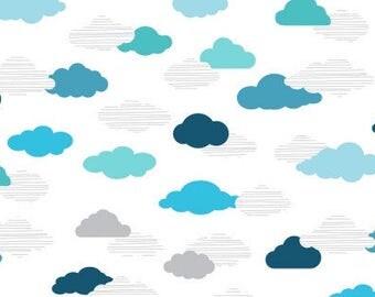 Cloud and sky Fabric - Dear Stella Cloud Nine On My Way Cloud Fabric DS 618