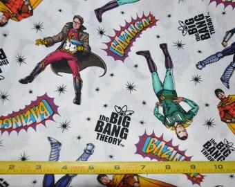 1/2 Yard of Big Bag Theory - Leonard - Sheldon - Penny 100% Cotton Quilt Fabric by David Textiles