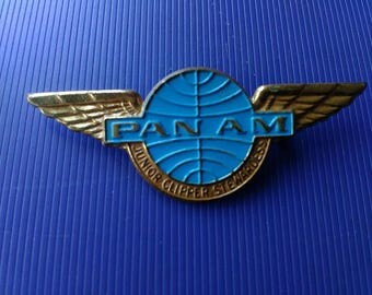 Pan Am Junior Clipper Stewardess Pin Badge Vintage Airlines Memorabilia