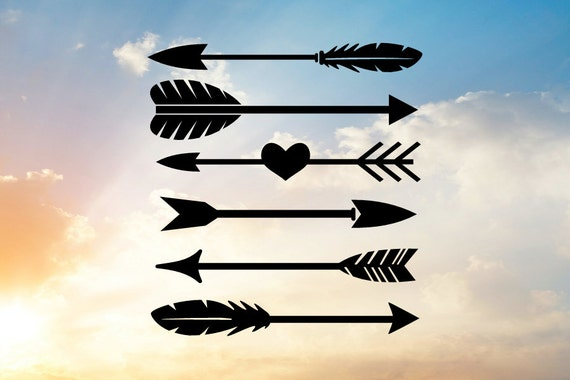 Arrow Svg Tribal Svg Arrow And Heart Svg Feather Svg