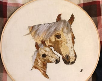 Vintage Horse embroidery