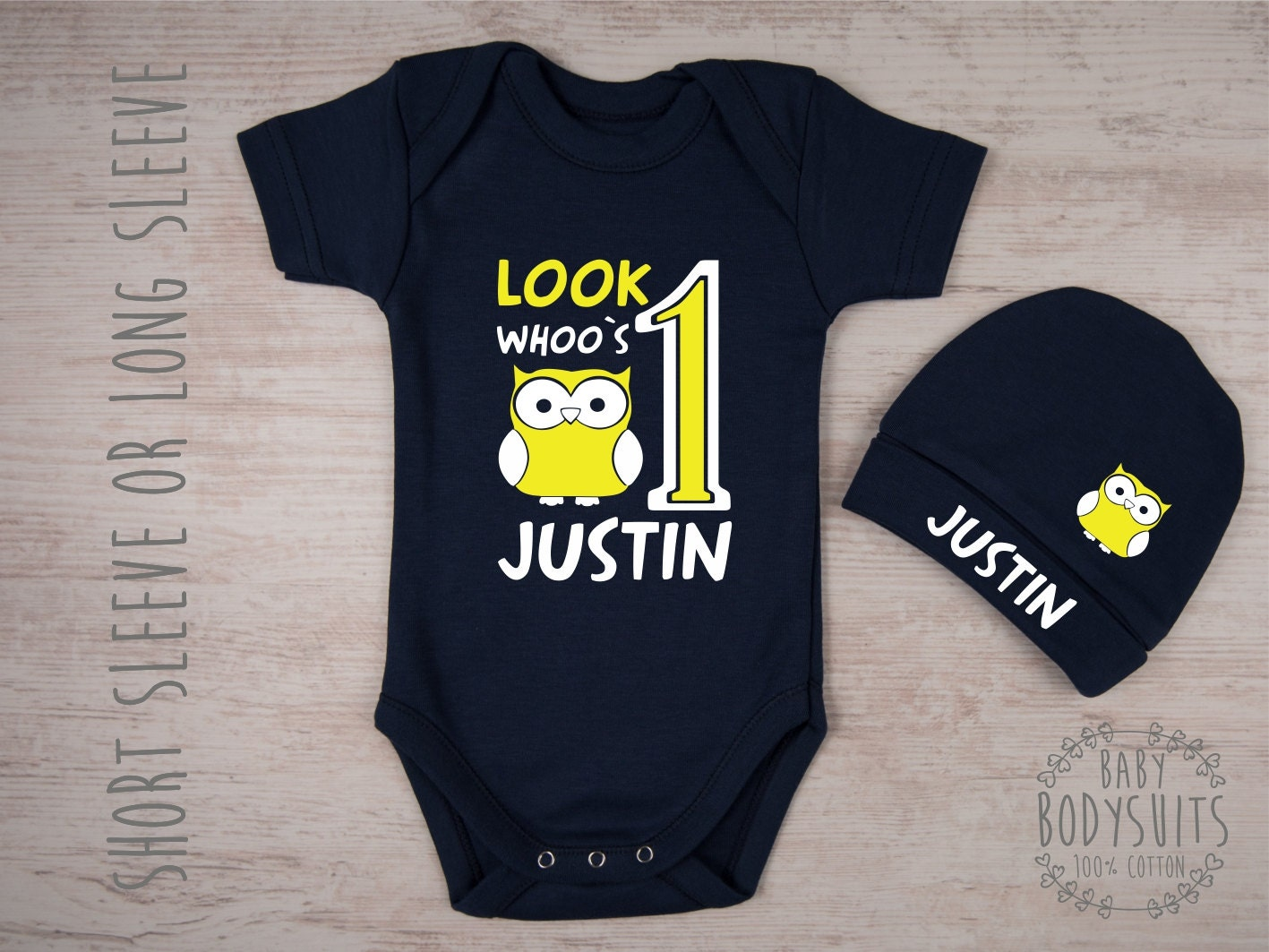 First Birthday Outfit Boy One Year Old Personalized Baby Bodysuit