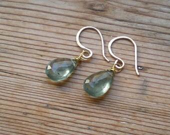 Raw Aquamarine earrings / untreated aquamarine / Aquamarine jewelry / Natural Aquamarine