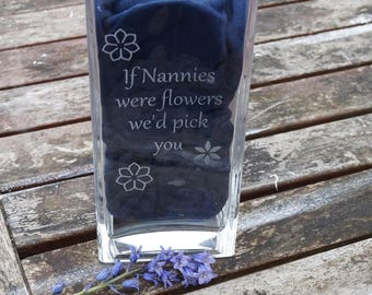 personalised vase, engraved vase, bridal party gift, mother of the bride, valentines day gift, mothers day gift, gift for nanny, vase
