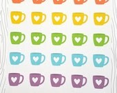Coffee Cup Stickers (Set of 40) Item #509