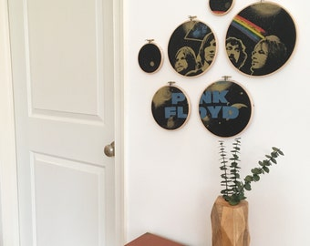 Pink Floyd Collage Wall Art - Hoop Art