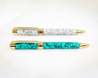 Princess 24KT Gold Plated Pen with Swarovski Crystals, Handcrafted Pen, Gift for Her, Bridesmaid Gift, Gift for Boss, Teacher Gift, Graduate