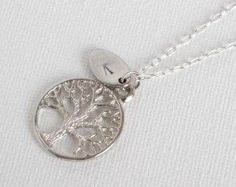 Arbre généalogique personnalisé de collier arbre de vie personnalisé Collier Collier initiale mères grand-mère fille Collier Collier