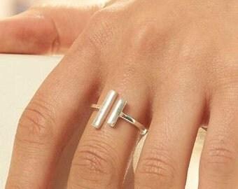 Silver Open Bar Ring