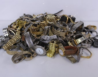 15 lb Lot Of Watches, Watchbands, Watch Parts - For Jewelry Making, Watch Repair, Art Supplies & Crafts