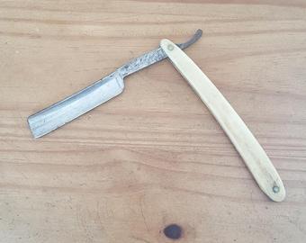 H. Keschner antique straight razor, made in Solingen, Germany