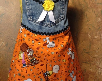 Young Lady - Apron with Attitude - Autumn with Snoopy and Friends