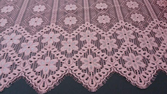 Lace fabric nude - French style, Gorgeous chantilly lace fabric from France