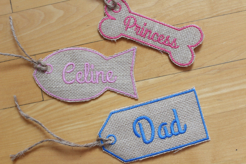 Christmas Name Tags: Name Tag Stocking Tag Christmas Name Patch Personalized