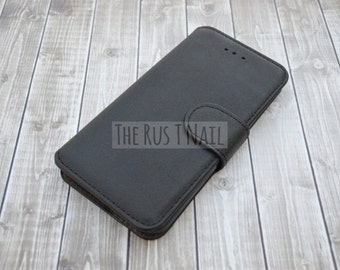 FREE SHIPPING - Black iPhone 6s Wallet Case - Leather