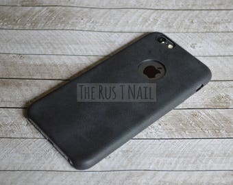 FREE SHIPPING - Black iPhone 6 Ultra Slim Leather Case