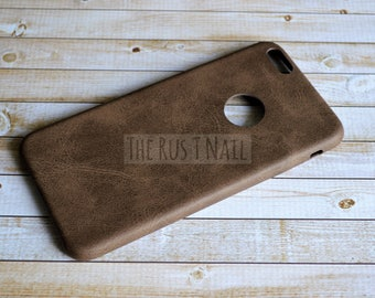 FREE SHIPPING - Brown iPhone 6s Plus Ultra Slim Leather Case