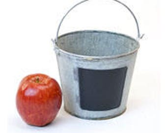 Galvanized Buckets with Chalkboard | Galvanized Tin Pail | Wedding Sparkler Bucket | Herb Planter