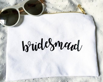 Bridesmaid Gift: Makeup Bag