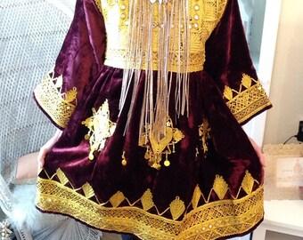 RESERVED!!! Afghan/ Banjara Embellished Velvet Dress