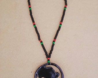 RBG Africa circle necklace