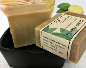 Honey and Ginger Cold Process Handmade Soap