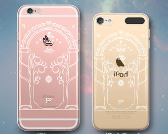 West Gate Door of Moria Doors of Durin Lord of Rings Transparent Clear Rubber Case for iPhone 7 6s 6 Plus SE 5s 5 5c iPod Touch