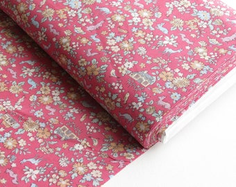 1/2 yard Lecien Japan Memoire A Paris 2017 | Cotton Lawn | # 40742-20 Pink