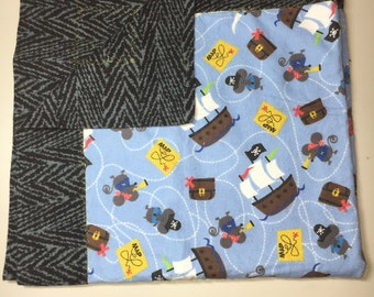 2 in 1 REVERSIBLE Flannel Blanket For A Baby Or Toddler