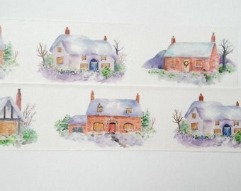 Design Washi tape-covered houses Christmas