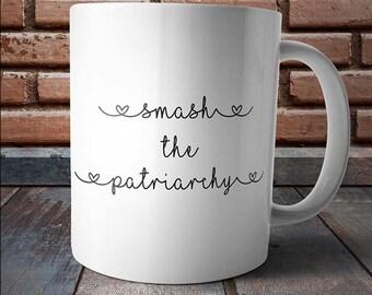 Smash the Patriarchy, feminist mug