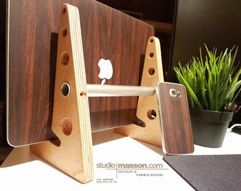 Wood laptop stand ( Apple or Windows !)