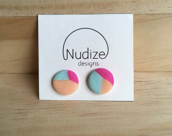 "Handmade statement stud earrings // gifts for her // ""Azalea"""