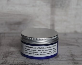 Handmade All natural Calendula Cream for babies & adults skin rash eczema 100 ML