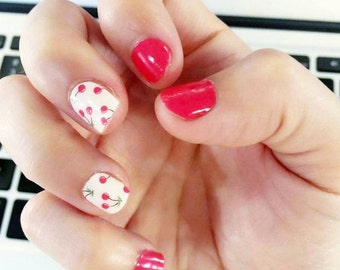 Cherry Nail Polish Wraps