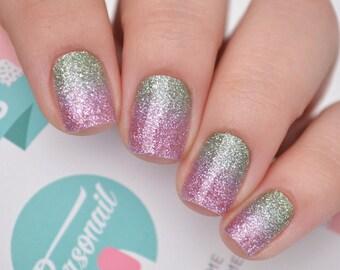 Underwater Glitter Nail Polish Wraps