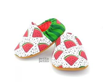 Watermelon Baby Booties